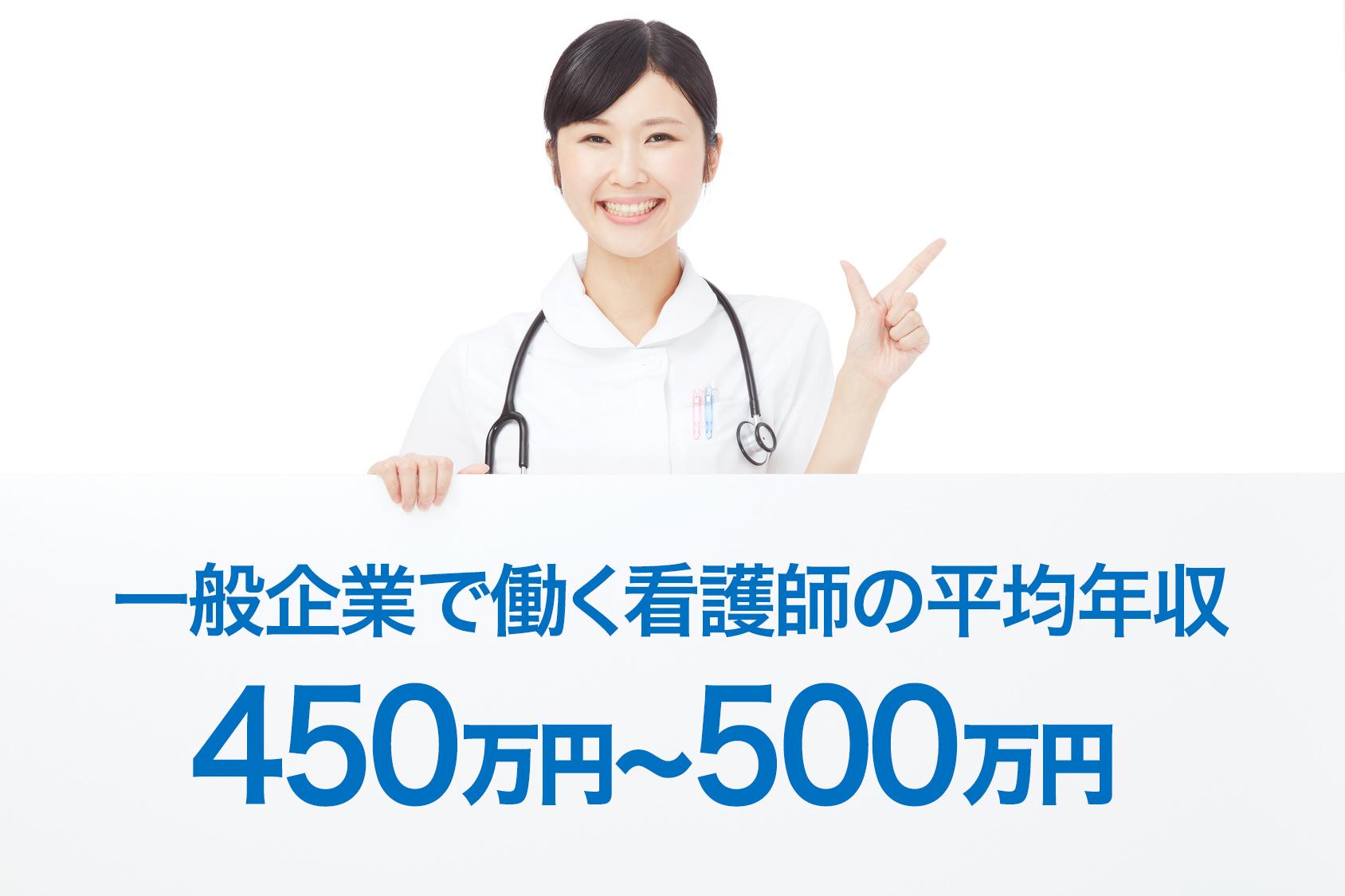 企業で働く看護師の平均給料