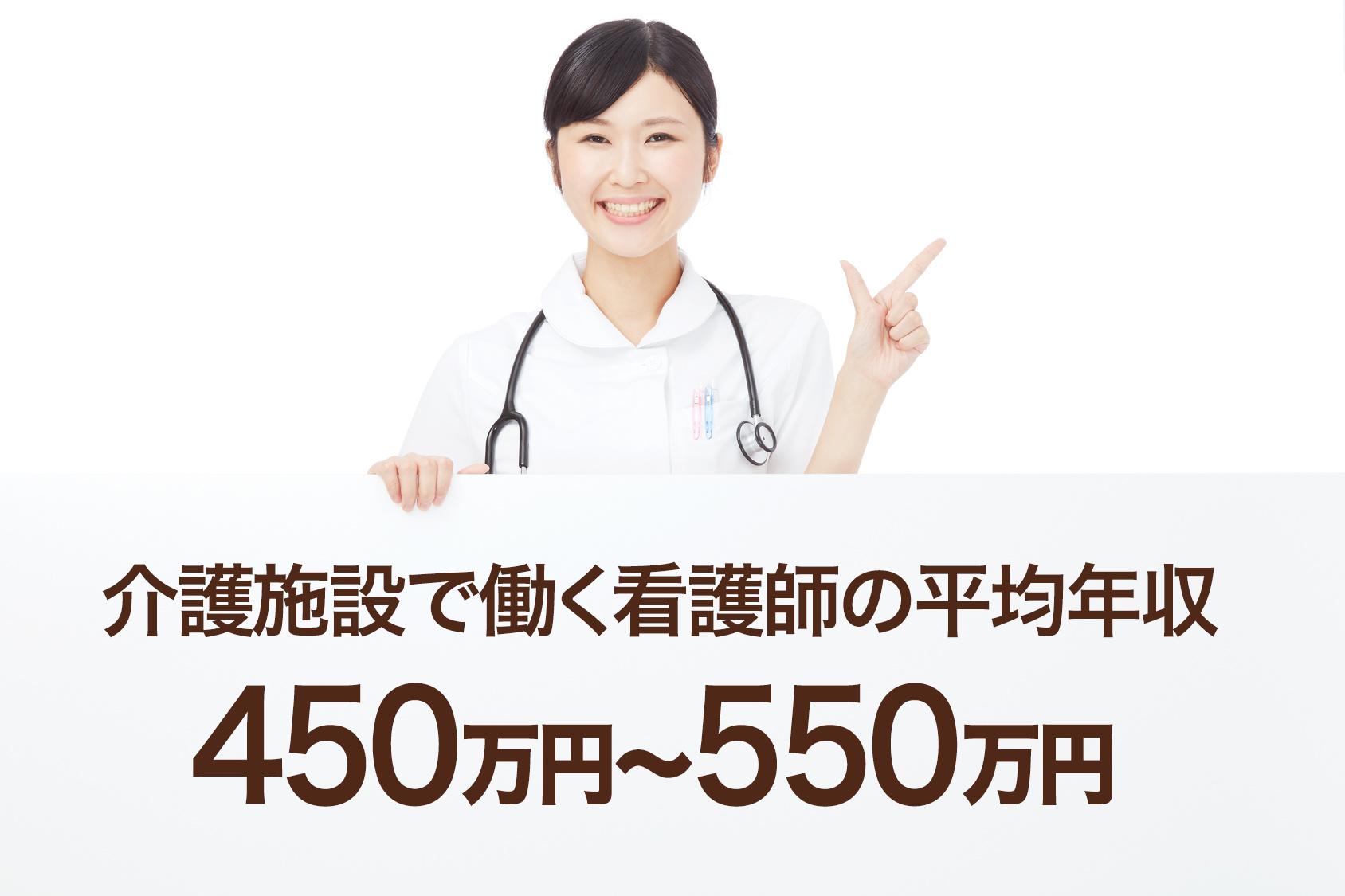 介護施設で働く看護師の平均年収